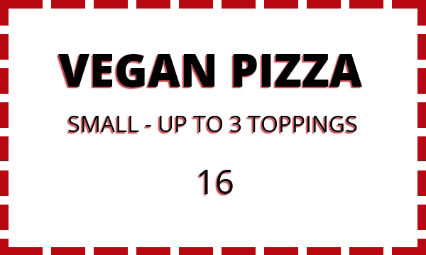 Special - Vegan Pizza